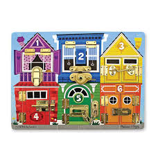 Melissa And Doug Wooden Games Cool Wooden Latches Board Melissa Doug