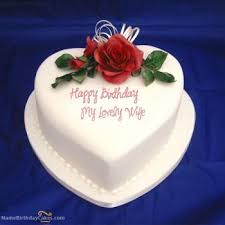 Romantic Birthday Cake For Wife Make Her Day Special