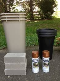 Exterior Garbage Cans Set Painting Interesting Inspiration Ideas