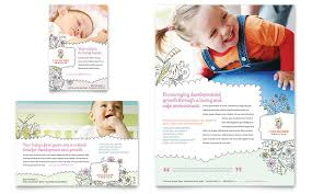 Free Childcare Advertising Babysitting Daycare Flyer Ad Template Word Publisher