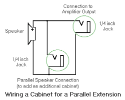 adding jacks to a speaker cabinet adding a parallel connection
