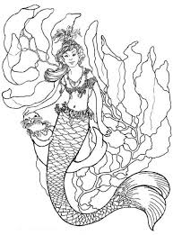 printable mermaid coloring pages. Delighful Coloring Mermaid Printable Coloring Pages Inside E
