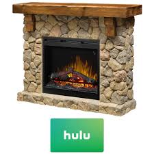 dimplex fieldstone electric fireplace w hulu 25 gift card gds26l5 904st 0