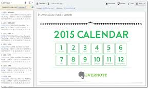 Make Your Calendar 2015 How To Create A Planner With The Evernote