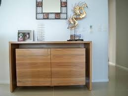 hall entrance furniture. waterfall style side cabinet made from blackbutt with clear finish hall entrance furniture f