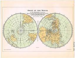 Details About Antique Print Vintage 1800s Astronomy Science Star Chart Map Of The World Geo