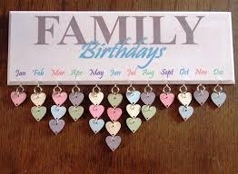 family birthdays 2 birthday plaque diy creative board idea