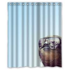 Vacation Sloth Shower Curtain ...