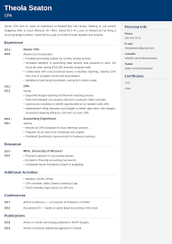 Accounting Resume Example Samples And 25 Writing Tips
