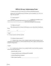 Hipaa Authorization Form Delectable Insurance Release Form Cool Form Templates Medical Record