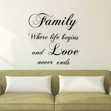 Sale Familie Wo Das Leben Beginnt Und Liebe Endet Nie Wandaufkleber