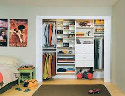 Simple closet ideas for kids Clothes White Reach In Childrens Closet With Shelves Closet Rods Drawers Built In Lighting And Sliding Doors California Closets Kids Closets Teen Closets Storage Solutions Organization Ideas