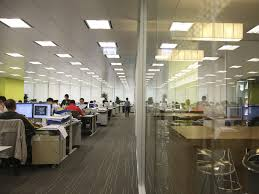 Small Picture Long Interor Office Design With Wall Panel Partition In Loan