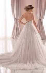 Spaghetti Strap V Neckline Ball Gown Wedding Dress With Beading And Embroidery