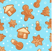 cute gingerbread background. Fine Cute Christmas Gingerbread Seamless Pattern Ginger Cookies On Blue Background  Vector Illustration Cute Xmas Background For Wallpaper Gift Paper  For Gingerbread Background N