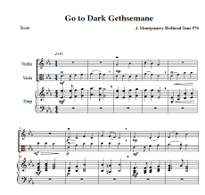 gethsemane sheet music violin sheet music viola sheet music cello sheet music