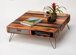 Elmeru0027s Crafters Project  Industrial Pallet Coffee TablePallet Coffee Table With Hairpin Legs