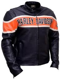 harley davidson men s victory lane black leather jacket