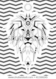 Coloring Page Geometric Lion Lion Considered Stock Vector Royalty