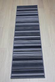 lovely grey runner rug element canterbury greyblack stripes rug rugs in the uk