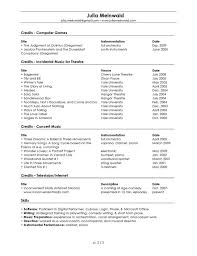 Free Musician Resume Template From Music Resume Resume Cv Cover Delectable Musician Resume