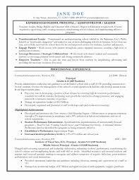 Professor Resume Elegant Entry Level Assistant Principal Resume