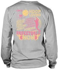 Basketball Cheer Shirt Designs Amazon Com Cheering Forever Proud Basketball Mom Long