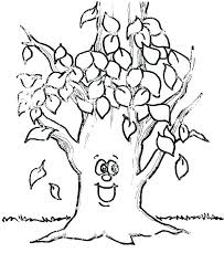 Free Fall Coloring Sheets Pages For Preschoolers Leaf Preschool