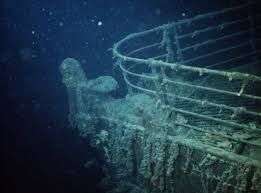 real underwater titanic pictures. 1985 --- The Prow Of HMS Titanic, As She Lies Real Underwater Titanic Pictures