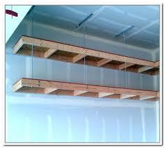 suspended garage shelves shelf plans wasted