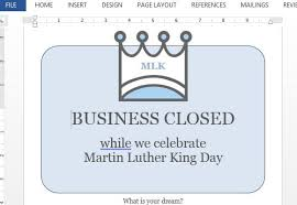 Business Closed Sign Template For Word