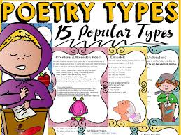 Types Of Poetry Anchor Chart Poetry Types Of Poems