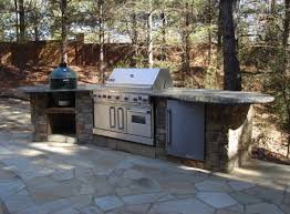 Granite For Outdoor Kitchen Picture Of Big Green Egg Outdoor Kitchen Brick Island With Granite Top