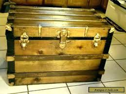 large steamer trunk decorative trunks large steamer trunk coffee table vintage