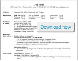 Pilot Resume Template Word