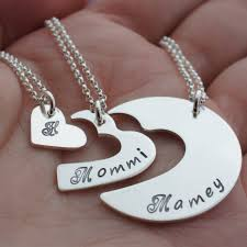 personalized three generation necklace set in sterling silver by ewd grandmother daughter granddaughter valentine s day jewelry gifts