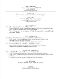 Actors Resume Sample Actor Resume Template Awesome Write Theater ...