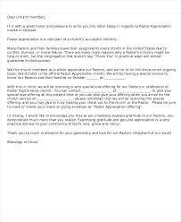 Gratitude Letter Template Pastor Appreciation Letter Template Meetstan Co