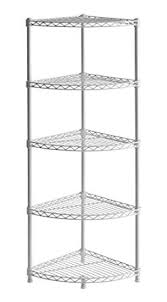 corner wire shelving. Unique Wire Muscle Rack WSCR141447 5Shelf Steel Wire Corner Shelving Unit 14u0026quot  Width Inside O