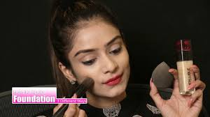 how to apply foundation apply foundation in three diffe ways foundation makeup tutorial