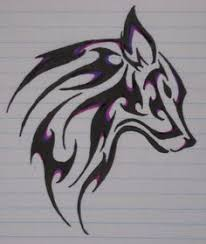 tribal wolf drawings in pencil. Perfect Tribal Wolftattoopurple By NeftheartOtter On Tribal Wolf Drawings In Pencil A