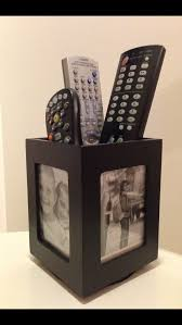 my remote holder a rotating photo display pen holder