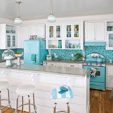 Turquoise Kitchen Retro Turquoise Kitchen 10 Most Popular Kitchens Coastal Living