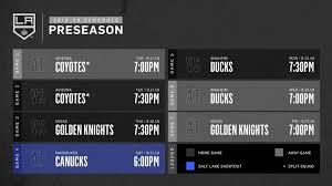 La Kings Staples Seating Chart La Kings Announce 2019 Preseason Schedule