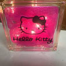 hello kitty lighted glass block 1 of 1 see more