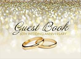 guest book 60th wedding anniversary beautiful ivory guest book for 60th wedding anniversary diamond anniversary gift for couples amazon co uk kensington