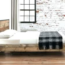 Metal Frame King Size Beds King Size Wood Bed Frame Rustic Double ...
