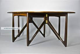 Folding Dining Table for Lovely Small Space : Appealing Folding Dining Table  With Unique Stand Design