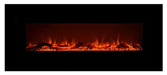 touchstone electric wall mounted black fireplace it is 50 inches
