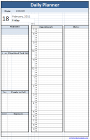 Daily Planner Sheets Daily Planner Template Planner Template Daily Planner
